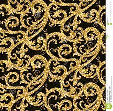 Bloemen Gouden Behang Vector Illustratie Illustratie Bestaande Uit