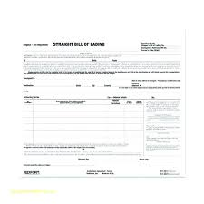 Blank Bill Of Lading Forms Interesting Form Minimalist Template Bill Lading Free Snap A Of Short Not Free