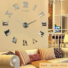diy oversized wall clock new fashion quartz clocks big size rushed mirror sticker wall clocks home diy oversized wall clock
