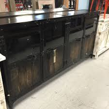 buffet with glass doors. Metal And Wood Buffet With Glass Doors Nadeau Nashville - En