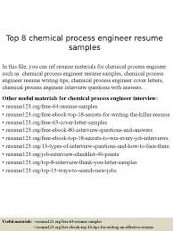 Chemical Process Engineer Resume Samples Resume Engineer