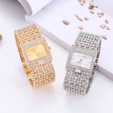 Ladies Designer Bling Watches Us 4 89 17 Off Famous Brand Woman Watches 2019 Designer Ladies Watch Rhinestone Full Diamonds Dress Womans Watches For Women Relogio Feminino In