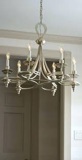 hand wrought iron chandelier in silver leaf finish details home lighting ideas modern