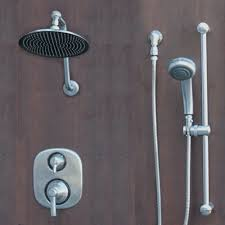 brushed nickel shower system. Atantis 10 Brushed Nickel Rain Shower System With Moen Valve