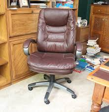 Office Chair Leather Dark Brown Leather Office Chair By Lane Ebth