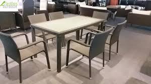Luxury rattan outdoor furniture jakarta table synthetic philippines