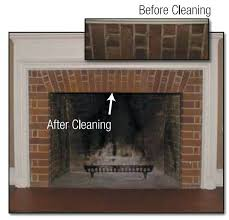 how to clean the inside of a brick fireplace before and after cleaning with paint n