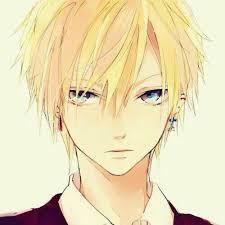 anime boy with blonde hair and green eyes tìm với google