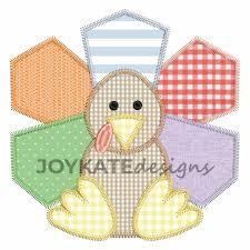 Mini Turkey Embroidery Design Zigzag Turkey Applique Embroidery Design