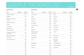 Sample Travel Packing List Sample Vegan Packing Lists Vegan Travel
