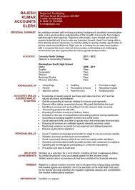 Accounts Clerk Resume Student Entry Level Accounts Clerk Resume Template