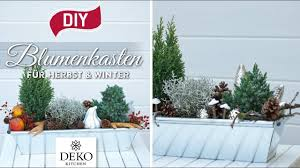 Diy Blumenkästen Für Herbst Winter Dekorieren How To Deko