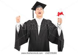 portrait student toga victorious stock photo shutterstock overjoyed graduate student holding a diploma isolated on white background