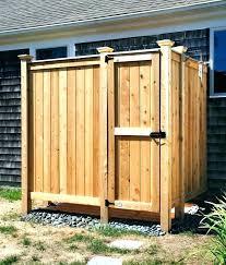 outdoor shower enclosure plans ideas stall diy