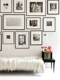 black and white minimal gallery wall