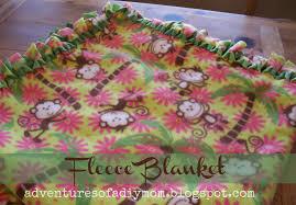 How to Make a No Sew Fleece Blanket - Adventures of a DIY Mom & How to Make a No Sew Fleece Blanket Adamdwight.com