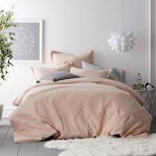 cstudio home by the company asher solid 2 piece blush cotton twin duvet cover