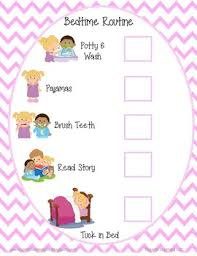 Bedtime Routine Chart Bedtime Routine Checklist