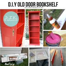 diy old door bookshelf i wonder if i can do this with the doors i took down from the kids closets