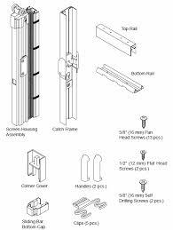 pictures of reliabilt sliding door parts