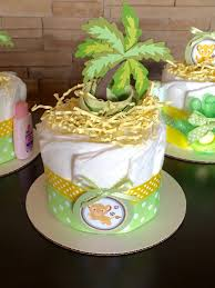cool mini diaper cake centerpiece lion inspired baby shower 4 il with balloon tutorial idea instruction diy honest topper