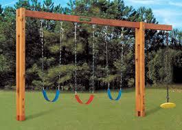 Swing Set Designs Diy Freestanding Swingset In 2020 Backyard Playground