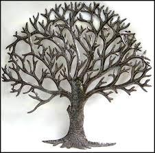 metal wall decor tree