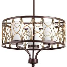 cirrine collection 3 light antique bronze chandelier with etched white glass shade