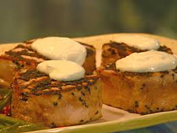 grilled tuna steaks with black sesame seeds recipe robin miller food network