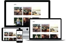 Art Gallery Website Template Free