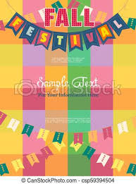 Fancy Background Design Autumn Fall Festival Template Poster Autumn Fall Holiday Festival