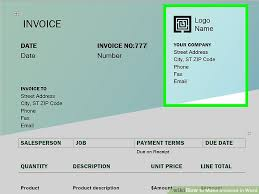 Create An Invoice Template In Word How To Make Invoices In Word With Pictures Wikihow