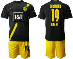 Breathable fabric helps you stay dry and cool 2020 21 Dortmund 19 Brandt Away Soccer Jersey