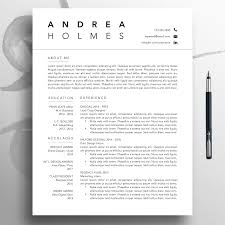 Creative Resume Cv Template 3 Page Professional Template Word Modern Resume Template Mac Download Simple Resume Pages Modern Cv Andr