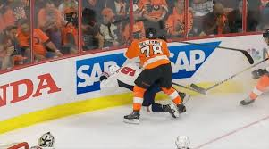 phliladelphia flyers hit vs capitals bellemares hit on orlov being reviewed by nhl player safety nova caps