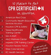 cpr certification in houston
