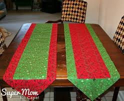 10 Minute Table Runner Pattern Simple One Hour Version Of The 48 Minute Table Runner Super Mom No Cape