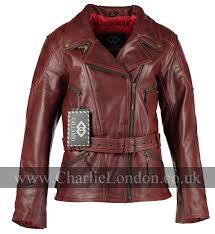 3 4 long demi red womens biker jacket