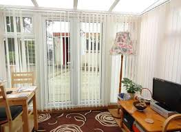 sliding glass patio door with built in blinds