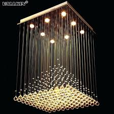 gigantic grid crystal chandelier featuring square