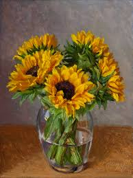 735x980 fine art sunflower oil painting original still life sunflower oil painting