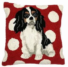 cavalier king charles spaniel pillow dog lover gifts for the love of dogs ping for a cause