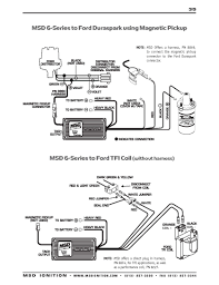 msd ignition wiring diagrams trigger wire · msd 6 series to ford duraspark using magnetic pickup