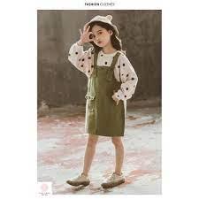 Váy cho bé gái 13 tuổi (3-12 tuổi)️ Quần áo bé gái 9 tuổi ️ thời trang bé  gái 8 tuổi️ yếm quần cho bé gái 10 tuổi giá cạnh tranh