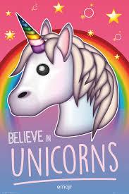 Emoji Believe In Unicorns Plakát Obraz Na Zeď Posterscz