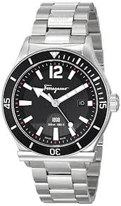 amazon com salvatore ferragamo men s ff3130014 ferragamo 1898 amazon com salvatore ferragamo men s ff3130014 ferragamo 1898 sport stainless steel watch watches