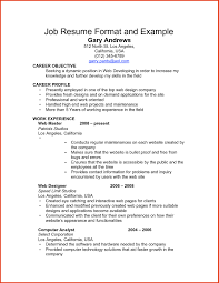 Gallery Of Resume For Job Example