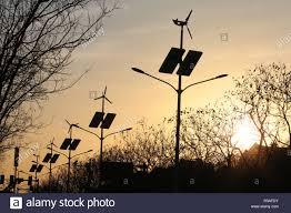Eco City Solar Lights Tianjin Chinas Tianjin 19th Dec 2018 Energy Saving Led