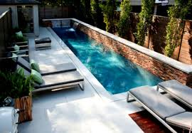 Swimming Pool Ideas : Fantastic Small Backyard Swimming Pool Gives Peaceful  Atmosphere : Modern Backyard Design Small Backyard Swimming Pool Lounge  Enclose ...