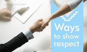how to respect people the respect essay